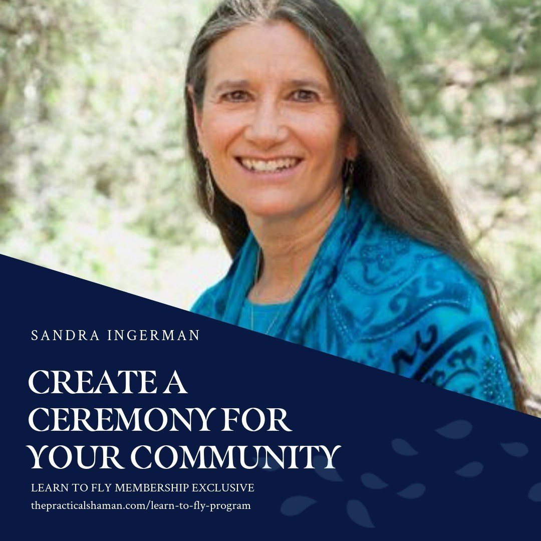 Create a Ceremony for Your Community: Sandra Ingerman. Sandra will share how to bring ceremonial work into your community. She will talk about the preparation work needed, how to  create sacred space, how to use vocabulary which welcomes community members of all traditions as well as give some ideas of community ceremonies that are powerful to perform.