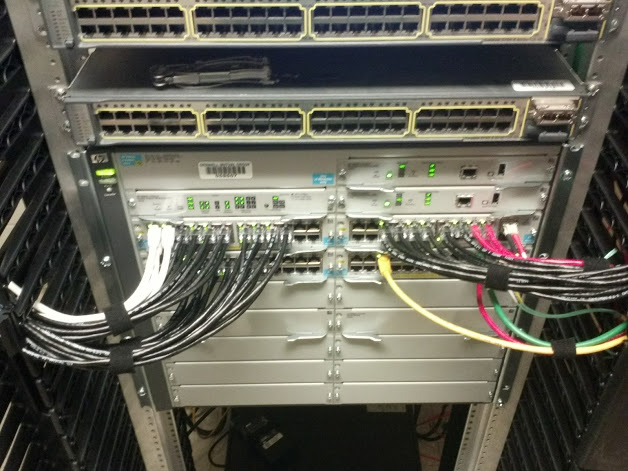 Properly wiring a network closet
