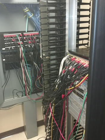 Properly wiring a network closet on