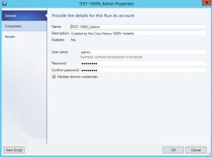 Updating the admin account in SCVMM