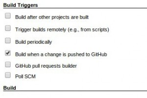 build when github changes