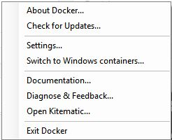 Running containers on Windows