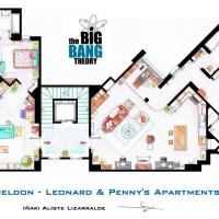 """The Big Bang Theory"" Apartment Floor Plan Indicates Strangely, Shaped Building"