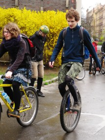 Prague Wandering Spring 2013 Issue Number 2 Spring Critical Mass Bike Ride Unicycle