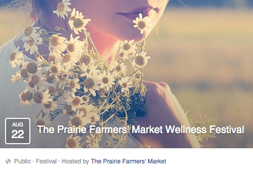 wellness festival event at prairie farmers market