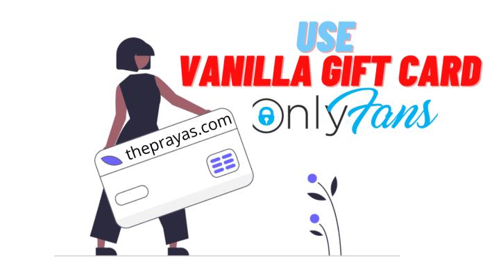 vanilla gift card on onlyfans