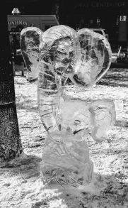 Two Elephants Ice sculpture