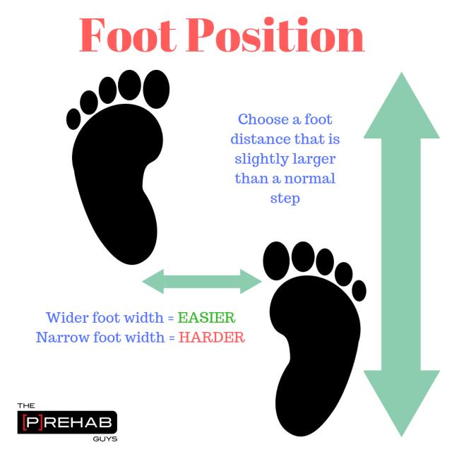 Foot Position split stance position