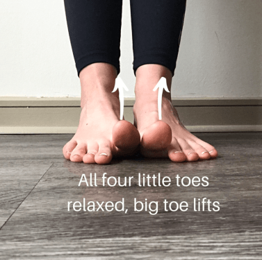 big toe lift exercise the prehab guys