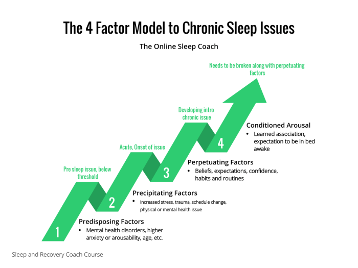 4 factor model chronic sleep issues prehab guys