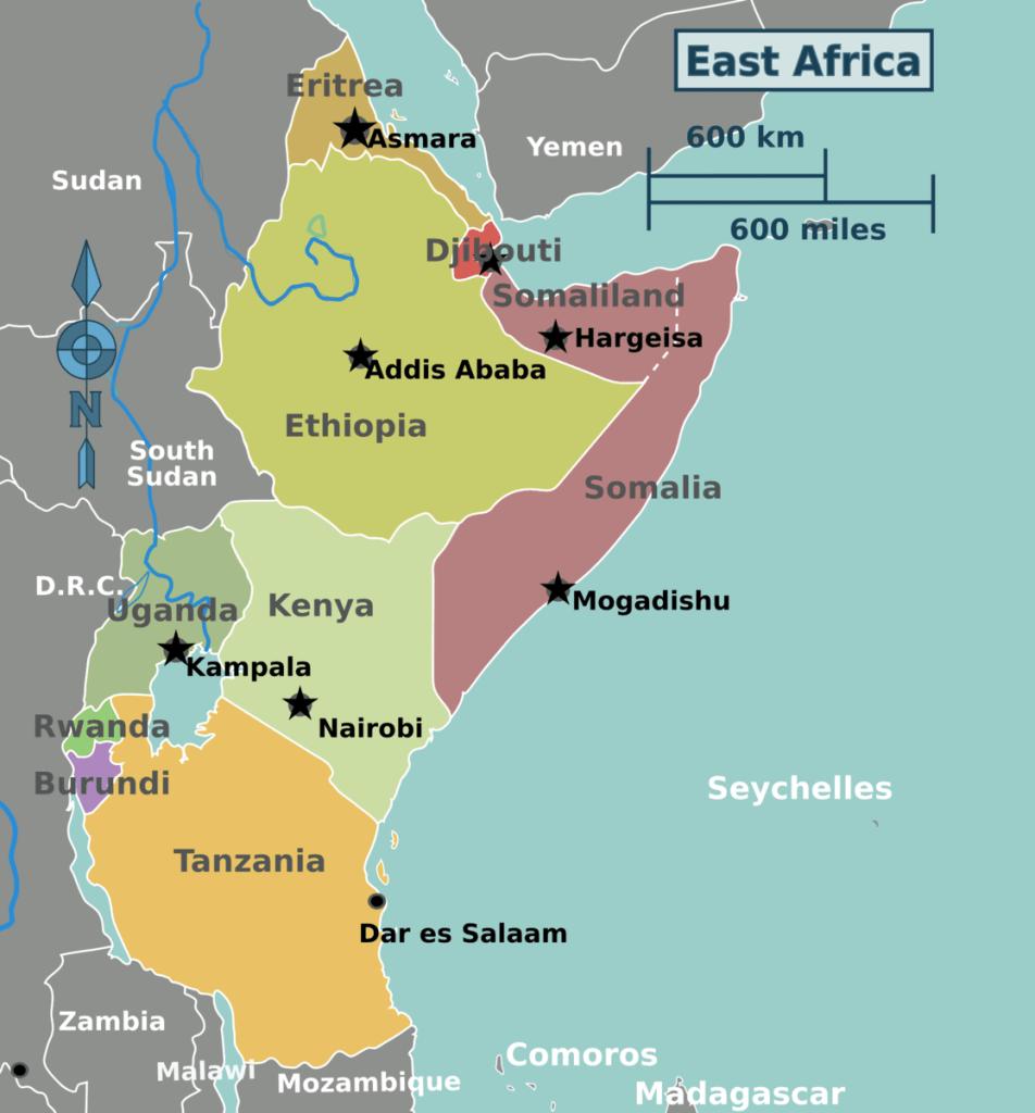 east africa map secrets to long distance running