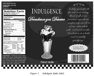 milkshake label indulgence is pain a prediction the prehab guys