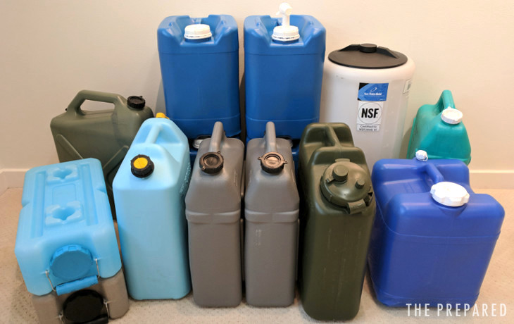 best emergency water storage containers