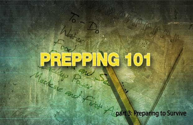 This is the third in a series for the beginning prepper on how to get started Prepping. In part one of this series we covered defining your Priorities and making sure you have a sufficient store of water. The second article covered planning for long term food storage and selecting the best firearm for self defense.