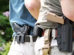 There are hundreds of holster options available. Inside the waistband, outside the waistband, shoulder, ankle, thigh, level I, II, III retention, leather, kydex, canted, straight pull…the options are many and quite frankly make my head hurt, just as the many different opinions on what is the best method of carry and which holster you should use to do so. What I intend to do here is address first the holster and then the method of carry. A word of caution: Anyone who has read my writing or taken a course with me knows that I'm not one to avoid Sacred Cows, nor do I like to give credence to the perception a piece a gear may have over the reality of its usefulness. That said, while it's not my intention to hurt anyone's feelings, I may wind up doing so. Thus I'd ask you to keep an open mind about facts versus opinions and at least consider my arguments as you make your decision on what to carry. At the end of the day, it will still come down to informed personal preference.