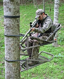 Climbing stands can give you a greater view of your surroundings.