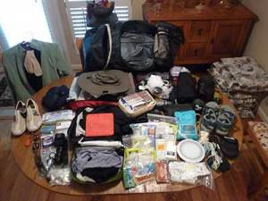 Lay everything you will need to pack in your bug out bag so you can inventory easily.