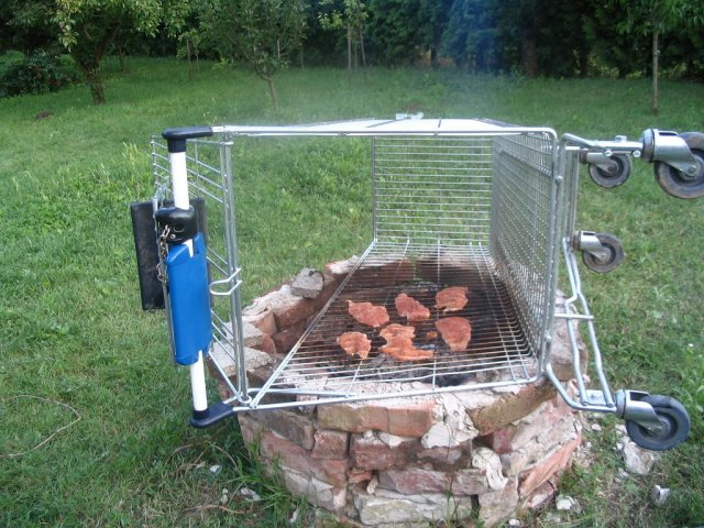 One of my favorite ways to see a shopping cart used.