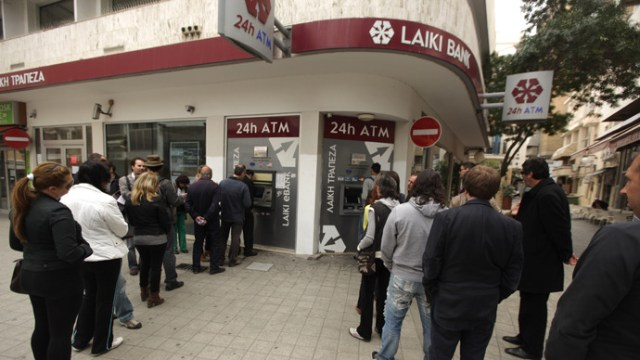 In 2013 Cyprus banks were closed to their depositors and money was confiscated to pay off National Debt.