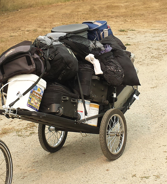 Bug Out Bike Trailer can hold over 600 pounds of gear and supplies.