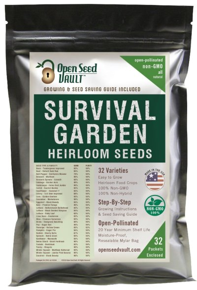 15,000 Non GMO Heirloom Vegetable Seeds Survival Garden