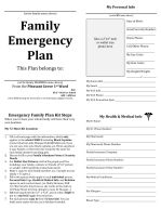 Why written emergency plans (EP) are better than just having one on your mind