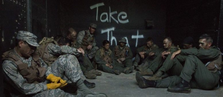 Aircrew members in captivity in a SERE training simulation
