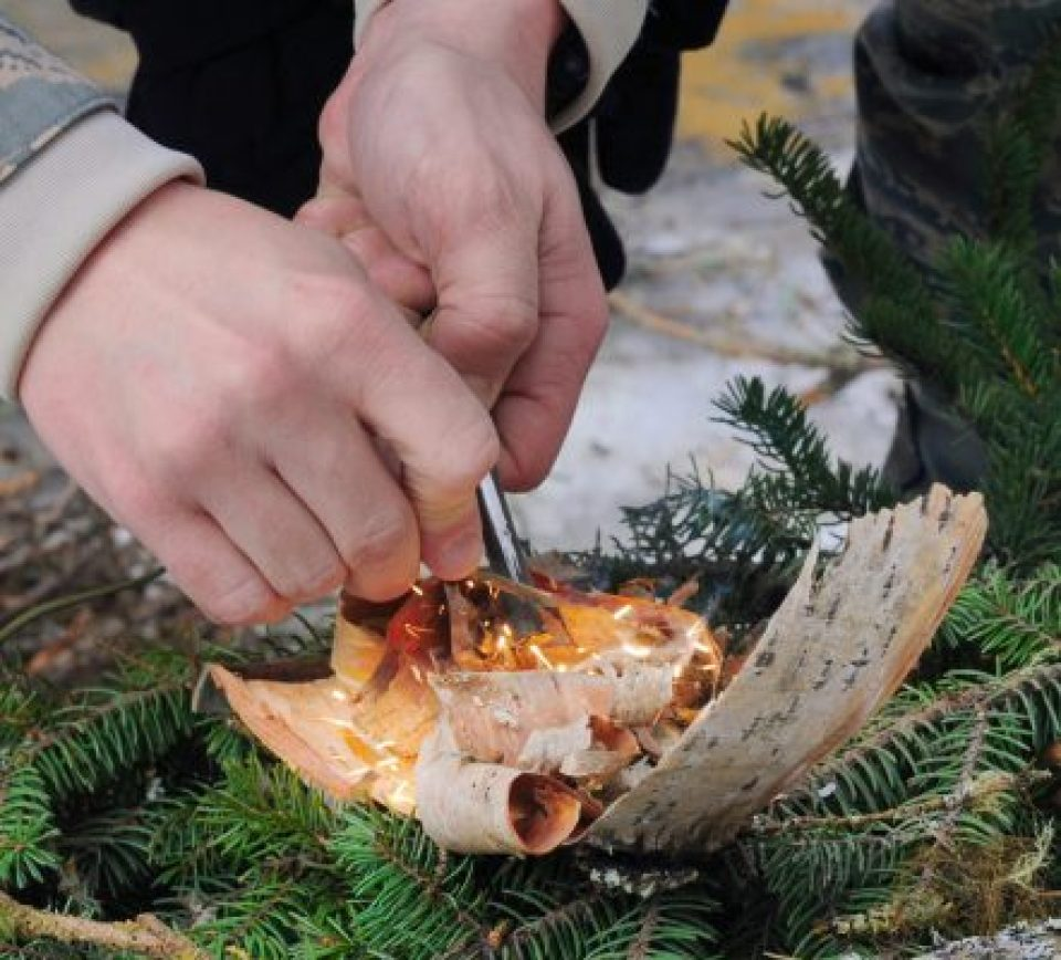 bushcraft skill of fire making
