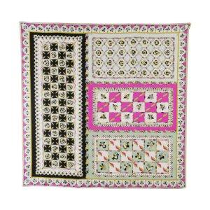 Emilio Pucci Magenta Floral Tile Silk Scarf
