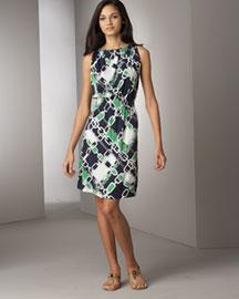 neiman marcus tory burch chain print sleeveless dress