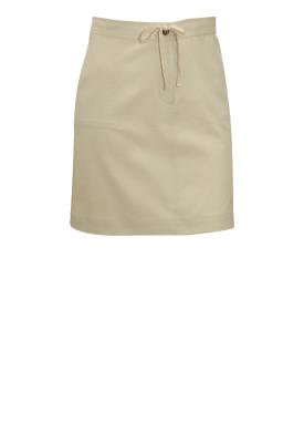 Christopher & Banks Khaki Drawstring Skirt