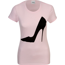 SATC Sex and the City Tee Shirt with Giant Stiletto