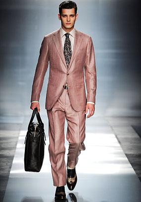 Zegna Pink Suit