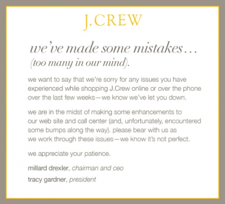 J. Crew July, 2008