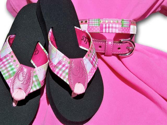 Ribbon Flip-Flops & Belts at PreppyPrincess.com