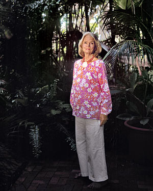 Lilly Pulitzer at home in Palm Beach