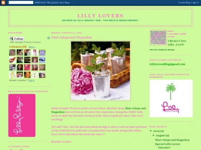 Courtesy Lilly Lovers Blog