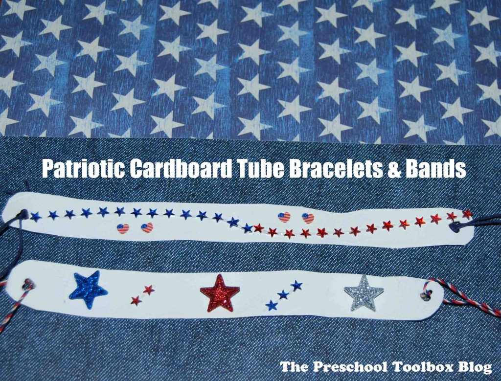 Easy Patriotic Cardboard Tube Bracelet Or Band