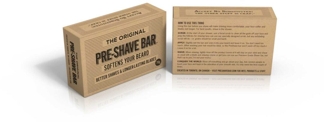 PreShave Bar - no nicks or rashes from blade-shaving