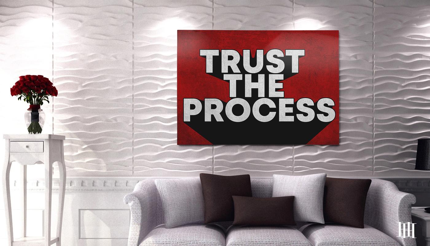 Trust The Process Canvas Wall Art2