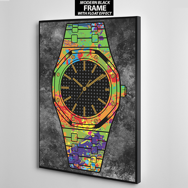 black face audermars piguet canvas wall art frame