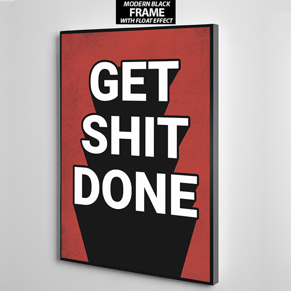get shot done canvas wall art the presidential hustle frame