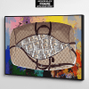 get the bag gucci and dollars canvas wall art the presidential hustle