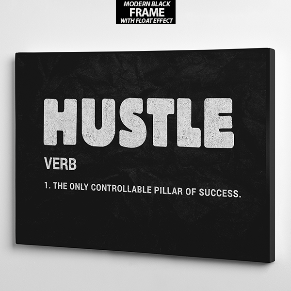 hustle frame wall art the presidential hustle canvas2