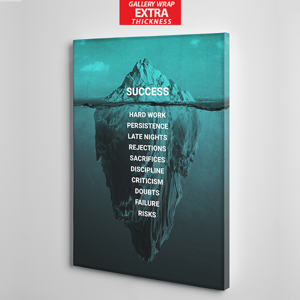 iceberg success canvas wall art the presidential hustle