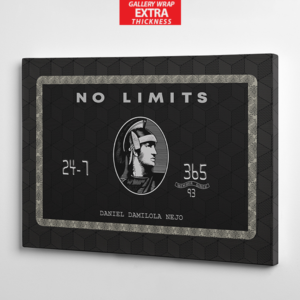 no limit american express wall art gallery wrap the presidential hustle