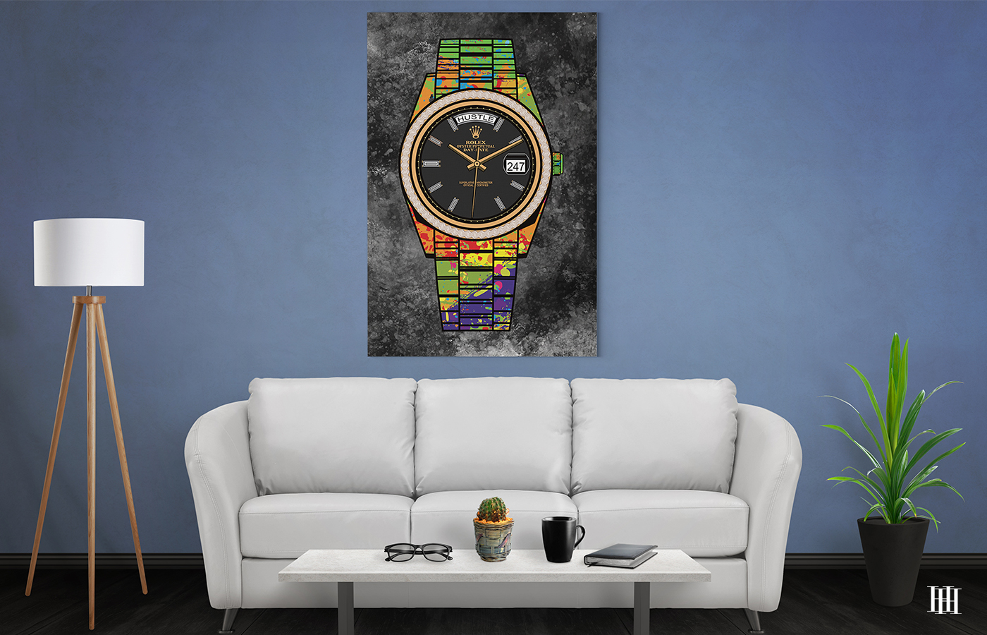 rolex canvas wall art the presidential hustle house
