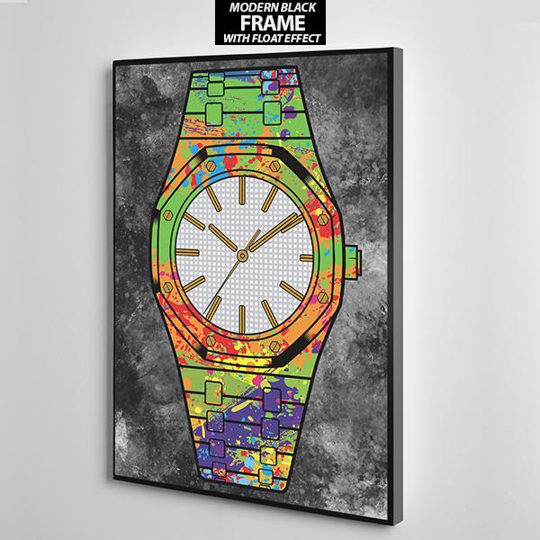white face audermars piguet canvas wall art frame