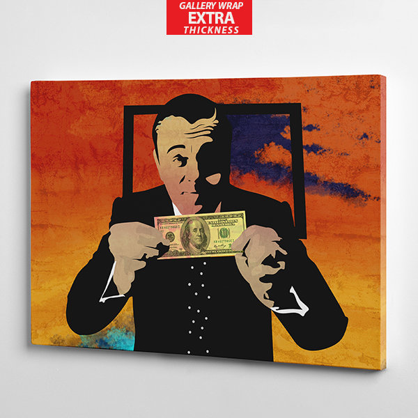 wolf of wall street canvas wall art gallery wrap the presidential hustle