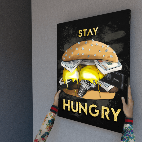 stay hungry canvas wall art the presidential hustle wrap hand